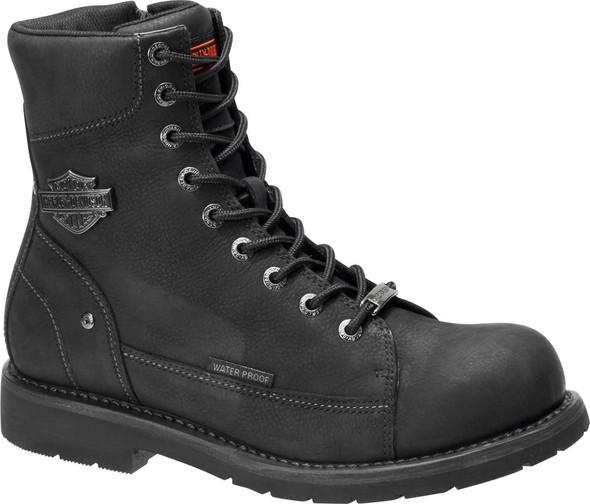 Harley-Davidson Men's Grafton 7.25-In Black or Olive WP Motorcycle Boots D96192 - Wisconsin Harley-Davidson