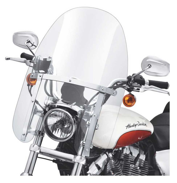 Harley-Davidson Quick-Release Compact Windshield, Fits Sportster Models 57801-11 - Wisconsin Harley-Davidson