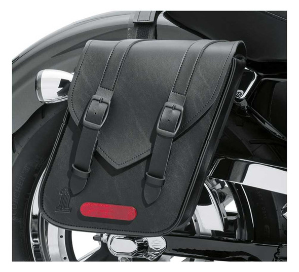 Harley-Davidson Standard Line Compact Throw-Over Saddlebags - Black 90201769 - Wisconsin Harley-Davidson