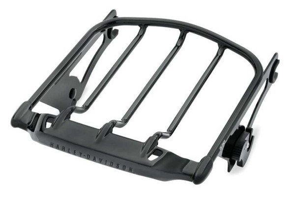 Harley-Davidson Air Wing Detachables Two-Up Luggage Rack, Black 50300008A - Wisconsin Harley-Davidson