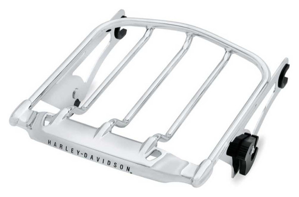Harley-Davidson Air Wing Detachables Two-Up Luggage Rack, Chrome 54283-09A - Wisconsin Harley-Davidson