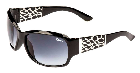 Curv Women's Riders Rock Sunglasses - Smoke Lenses & Shiny Black Frame 01-55 - Wisconsin Harley-Davidson