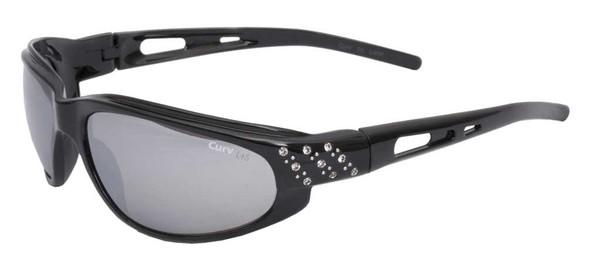 Curv Women's Riders Studded Sunglasses - Smoke Lenses & Shiny Black Frame 01-43 - Wisconsin Harley-Davidson
