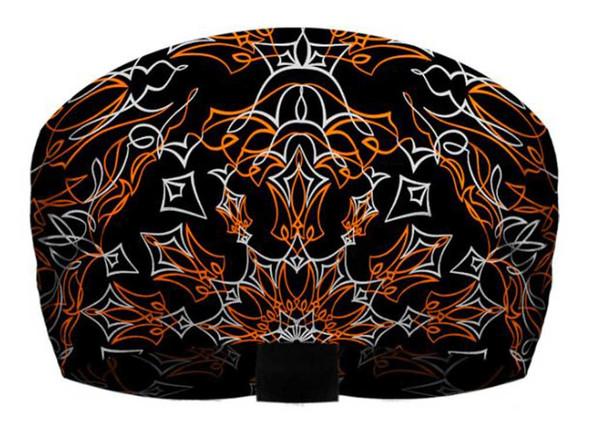 That's A Wrap Unisex Pinstripe Bandana Ultra-Soft Knotty Band - Black & Orange - Wisconsin Harley-Davidson