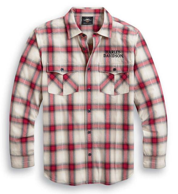 Harley-Davidson Men's Freedom Long Sleeve Button Front Plaid Shirt 99010-20VM - Wisconsin Harley-Davidson