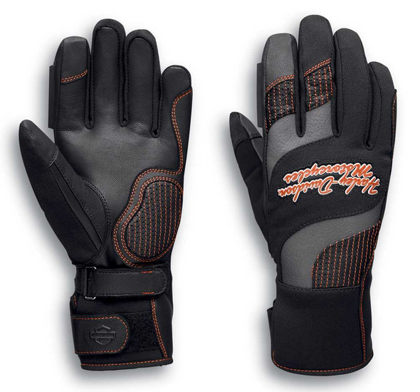 Harley-Davidson Women's Vanocker Under Cuff Gauntlet Gloves, Black 98129-20VW - Wisconsin Harley-Davidson