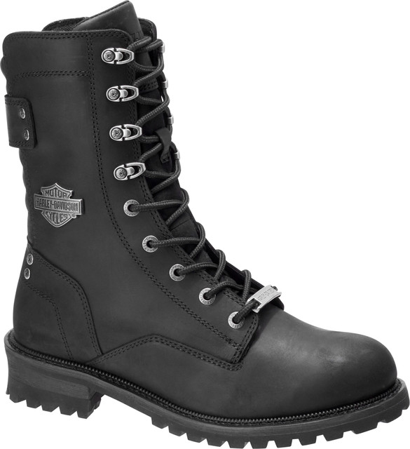 Harley-Davidson Men's Brenner 9-Inch Black or Brown Motorcycle Boots D96196 - Wisconsin Harley-Davidson