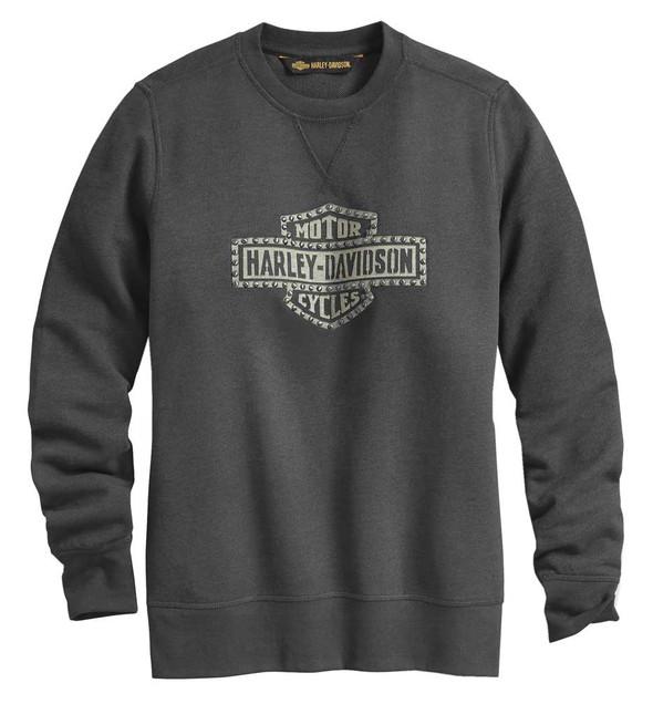 Harley-Davidson Women's Studded Logo Pullover Sweatshirt - Espresso 99064-20VW - Wisconsin Harley-Davidson