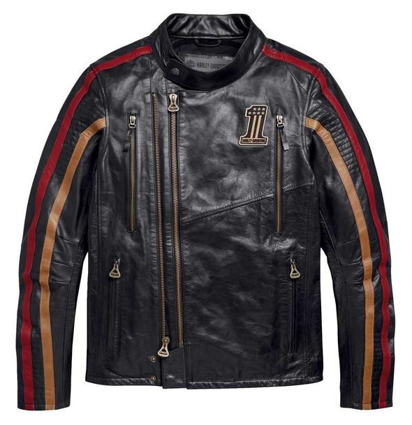 Harley-Davidson Men's Arterial Slim Fit Leather Jacket - Black 98001-20VM - Wisconsin Harley-Davidson