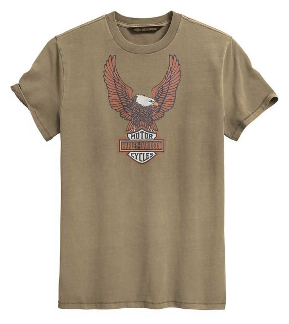 Harley-Davidson Men's H-D Eagle Slim Fit Short Sleeve Tee, Tan 99023-20VM - Wisconsin Harley-Davidson