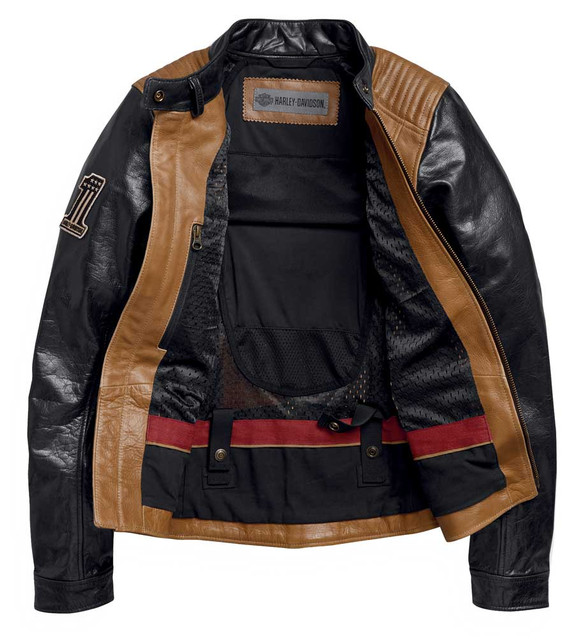 Harley-Davidson Womens Arterial Colorblocked Buffalo Leather Jacket 98005-20VW - Wisconsin Harley-Davidson