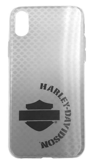 Harley-Davidson 3D Pattern Bar & Shield Logo iPhone X/XS Phone Case, Gray 07931 - Wisconsin Harley-Davidson