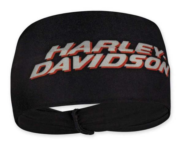 Harley-Davidson Women's Printed H-D Script Stretchy Headband - Black HP51630 - Wisconsin Harley-Davidson