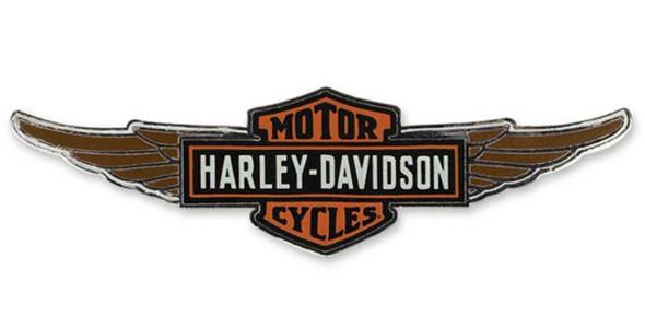 Harley-Davidson Winged Bar & Shield Logo Cloisonne Pin, Polished Nickel P153064 - Wisconsin Harley-Davidson
