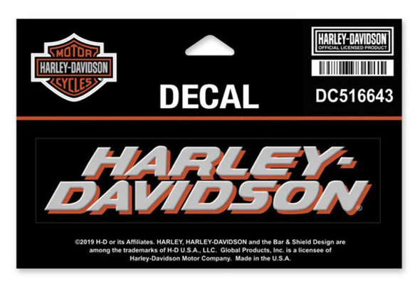 Harley-Davidson Bold H-D Decal, MD Size - 5.875 x 3.8125 inches DC516643 - Wisconsin Harley-Davidson