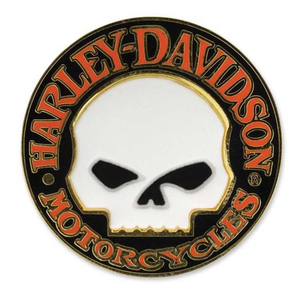 Harley-Davidson Hubcap Willie G Skull Logo Cloisonne Pin, Hard Enamel P1199262 - Wisconsin Harley-Davidson