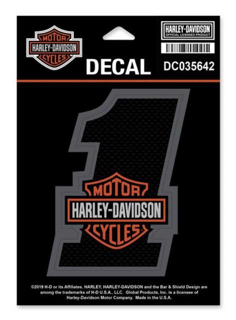 Harley-Davidson #1 Bar & Shield Decal, SM Size - 3.25 x 4.25 inches DC035642 - Wisconsin Harley-Davidson
