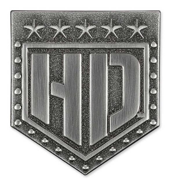 Harley-Davidson H-D Badge 2D Die Cast Pin, Antique & Brushed Finish P343062 - Wisconsin Harley-Davidson