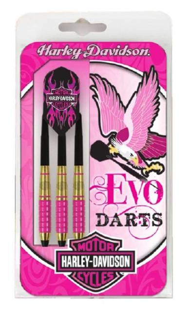 Harley-Davidson Evo Bar & Shield Pink 18 gram Soft Tip Slim Darts - Black 69672 - Wisconsin Harley-Davidson