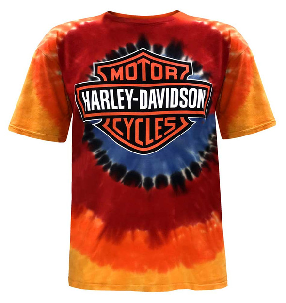 Harley-Davidson Men's Bar & Shield Logo Tie-Dye Short Sleeve Crew-Neck T-Shirt - Wisconsin Harley-Davidson