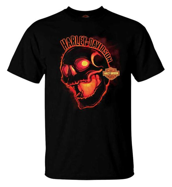 Harley-Davidson Men's Invert Skull Crew-Neck Short Sleeve T-Shirt, Black R002803 - Wisconsin Harley-Davidson