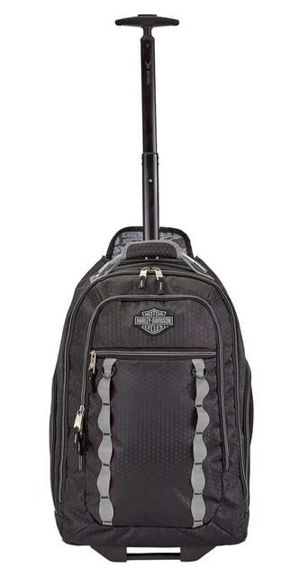Harley-Davidson Bar & Shield Lightwieght Wheeling Backpack - Black 99826-BLACK - Wisconsin Harley-Davidson