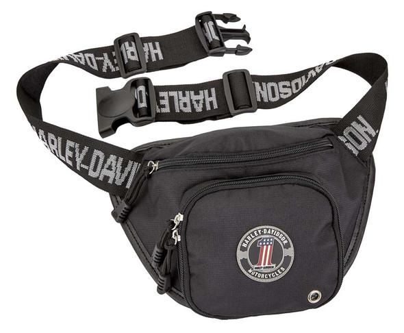 Harley-Davidson #1 RWB Logo Belt Bag, Water-Resistant - Black 99426-NUMBER1 - Wisconsin Harley-Davidson