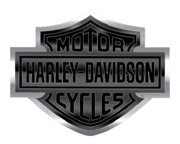 Harley-Davidson Bar & Shield Logo Bendable Aluminum Decal, Black/Silver CG41713 - Wisconsin Harley-Davidson