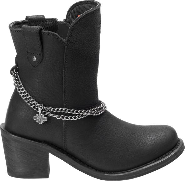 HARLEY-DAVIDSON FOOTWEAR Women's Vanette 7-Inch Black Leather Motorcycle  Boots D87184 - Wisconsin Harley-Davidson