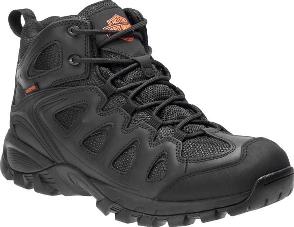 Harley-Davidson Men's Woodridge Black Waterproof Leather Athletic Shoes D93583 - Wisconsin Harley-Davidson