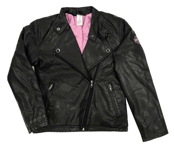 Harley-Davidson Big Girls' Winged Bar & Shield Pleather Biker Jacket 6040771 - Wisconsin Harley-Davidson