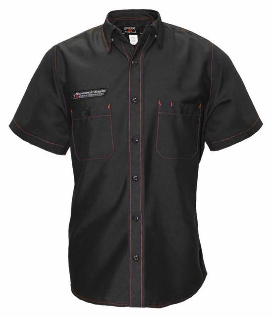 Harley-Davidson Men's Screamin' Eagle Contrast Stitch Woven Shop Shirt - Black - Wisconsin Harley-Davidson