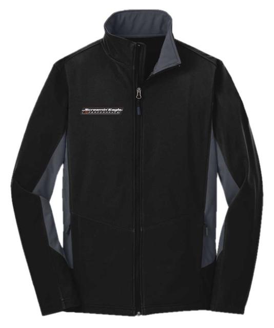 Harley-Davidson Men's Screamin' Eagle Soft Shell Outerwear Jacket, Black F318BG - Wisconsin Harley-Davidson