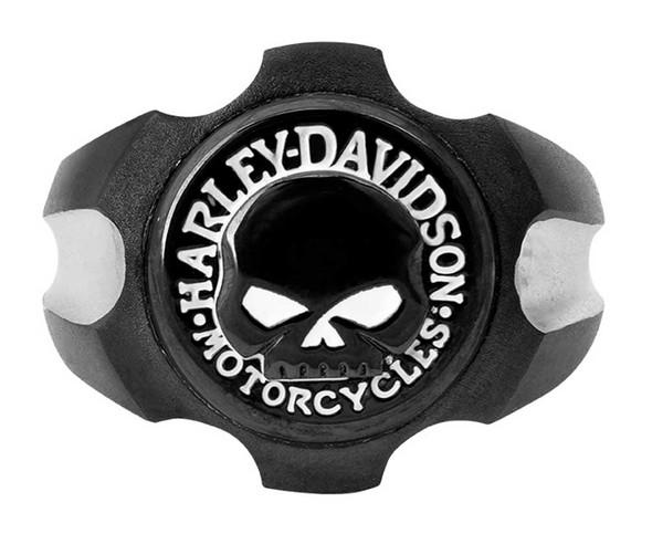 Harley-Davidson Men's Willie G Skull Black Axel Stainless Steel Ring HSR0058 - Wisconsin Harley-Davidson
