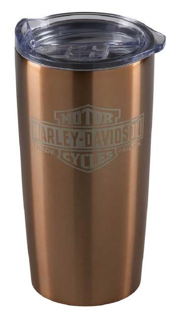 Harley-Davidson Copper Bar & Shield Stainless Steel Travel Mug, 20 oz. HDX-98626 - Wisconsin Harley-Davidson