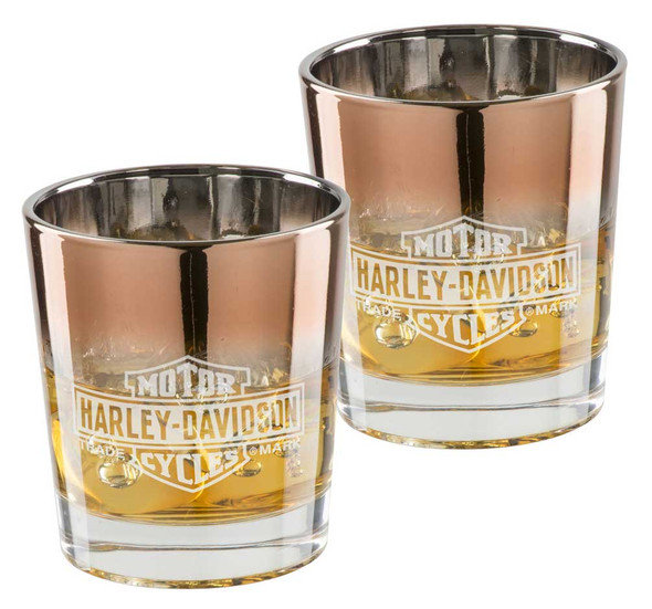 Harley-Davidson Copper Ombre B&S Double Old Fashioned Set - 8 oz. HDX-98718 - Wisconsin Harley-Davidson