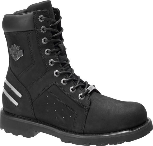 Harley-Davidson Men's Bradford 7.75-Inch Black Leather Motorcycle Boots, D96212 - Wisconsin Harley-Davidson