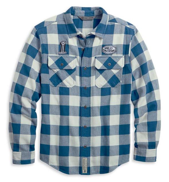 Harley-Davidson Men's Buffalo Plaid Button Front Long Sleeve Shirt 96007-20VM - Wisconsin Harley-Davidson