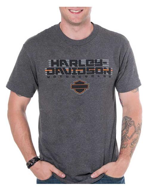 Harley-Davidson Men's Cruiser H-D Short Sleeve Crew-Neck T-Shirt, Charcoal Gray - Wisconsin Harley-Davidson