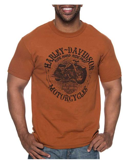 Harley-Davidson Men's Battle Cry All-Cotton Short Sleeve Crew T-Shirt, Orange - Wisconsin Harley-Davidson
