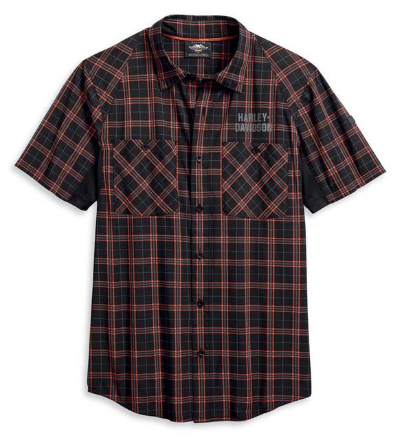 Harley-Davidson Men's Performance Fast Dry Stretch Short Sleeve Shirt 96018-20VM - Wisconsin Harley-Davidson