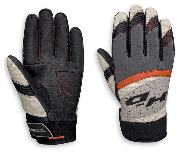 Harley-Davidson Men's Killian Mixed Media Full-Finger Gloves 97100-20VM - Wisconsin Harley-Davidson