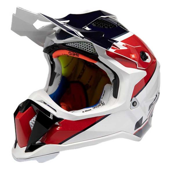 LS2 Helmets Full Face Subverter Ray MX Motorcycle Helmet, Red/White/Blue 470-132 - Wisconsin Harley-Davidson