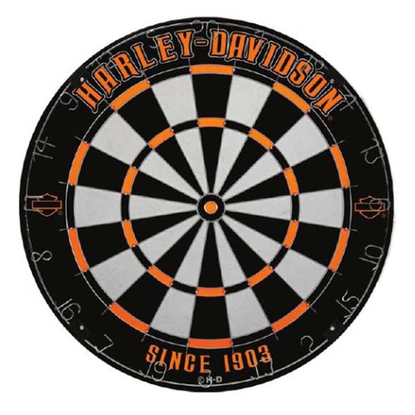 Harley-Davidson Legend Tournament Dartboard - Black & Orange, 18 in. 61985 - Wisconsin Harley-Davidson