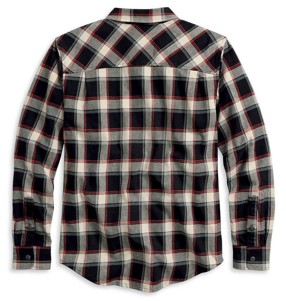 Harley-Davidson Men's HDMC Plaid Slim Fit Long Sleeve Woven Shirt 96106-20VM - Wisconsin Harley-Davidson