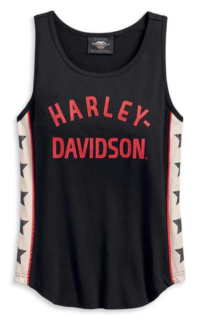 Harley-Davidson Women's Star Sides Sleeveless Tank Top, Black 96192-20VW - Wisconsin Harley-Davidson