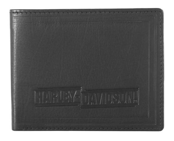 Harley-Davidson Men's Drag Race Bi-Fold Leather Wallet w/ RFID HDMWA11675 - Wisconsin Harley-Davidson