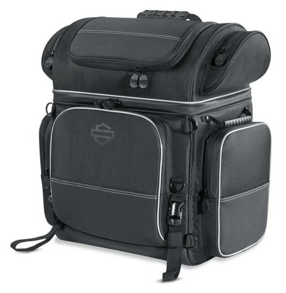 Harley-Davidson Onyx Premium Luggage Touring Bag, Universal Fit - Black 93300103 - Wisconsin Harley-Davidson