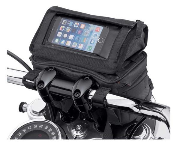 Harley-Davidson Overwatch Large Handlebar Bag, Universal Fit - Black 93300122 - Wisconsin Harley-Davidson