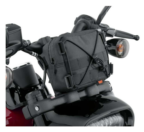 Harley-Davidson Overwatch Small Handlebar Bag, Universal Fit - Black 93300121 - Wisconsin Harley-Davidson